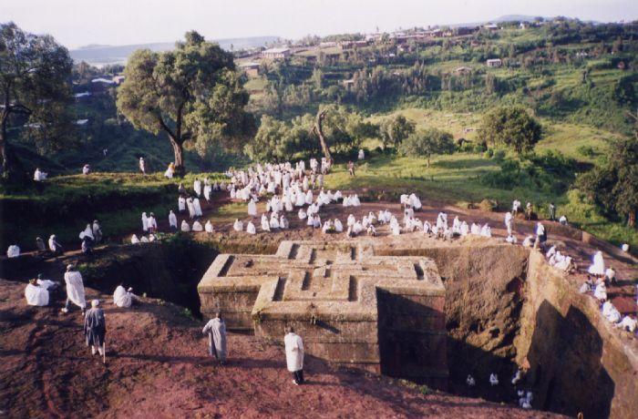 El Timkat en Gondar y Festividad de St. George. Foto M.A. Corvinos