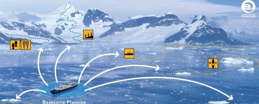 Base Camp en la Península Antártica    – Montañismo, kayak  y acampada en el continente